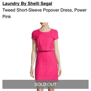 Laundry by Shelli Segal Tweed Dress Pink